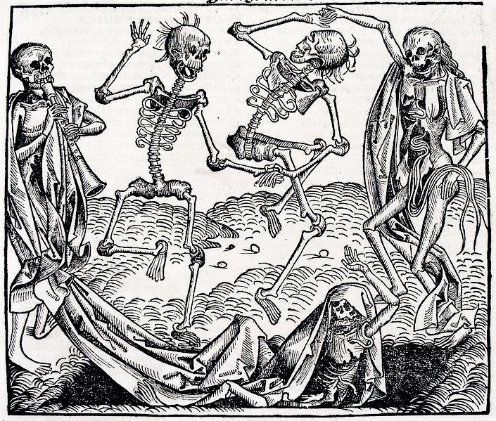 Danse macabre by Michael Wolgemut - Dança macabra – Wikipédia, a enciclopédia livre                                                                                                                                                                                 Mais