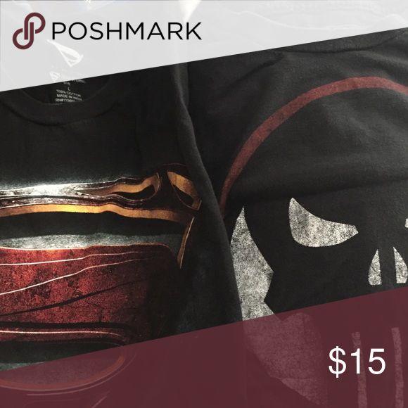 Superman/Punisher Shirt bundle. Men's large. Like new worn once. marvel/DC Shirts Tees - Short Sleeve