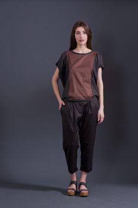 Brown t-shirt | Adelina Ivan Studio