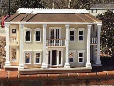 Handmade Southern Style Wood Dollhouse Mansion 15 Rooms 1 12 Scale French The O Jays And Doors