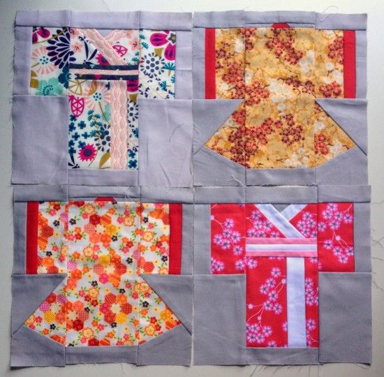 Kimono quilt block pattern | Blossom Heart Quilts