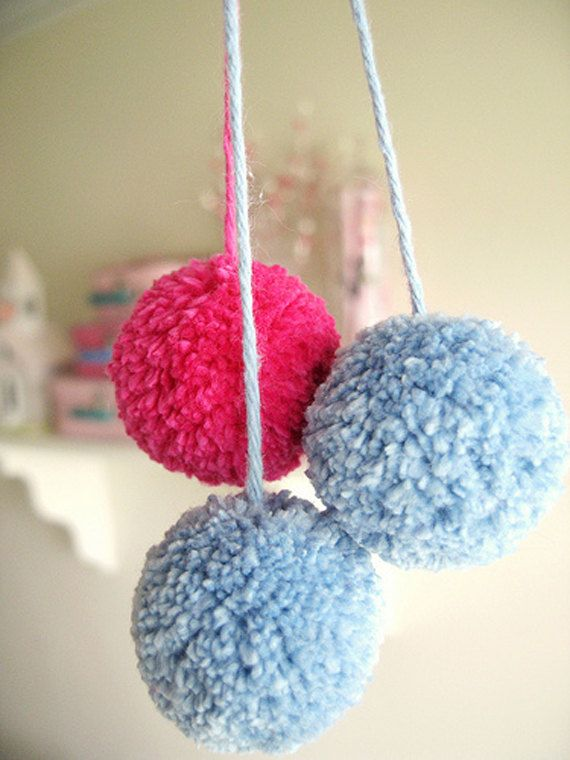 UM....ok, I know how long these take to make. A long time!!  100 Giant Yarn Hanging pom poms for $15!!!! What the!? Awesome :)