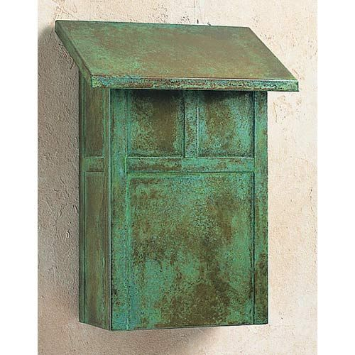Mission Pewter Mail Box Vertical Arroyo Craftsman Wall Mounted Mailboxes Outdoor