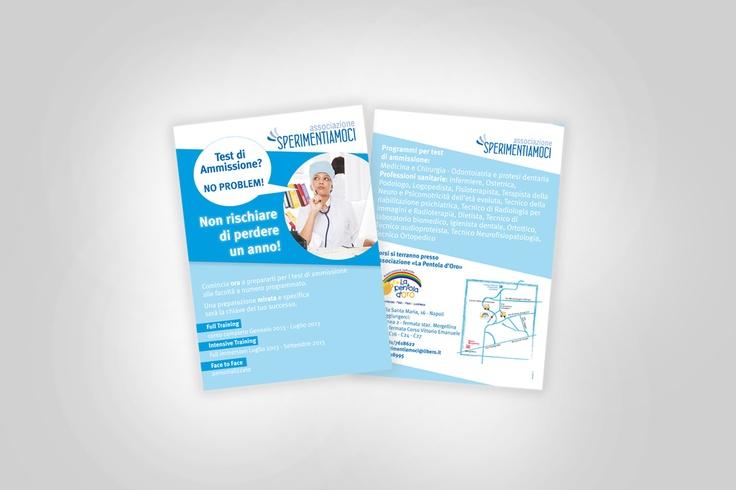 associazione sperimentiamoci   progettazione e stampa volantino promozionale