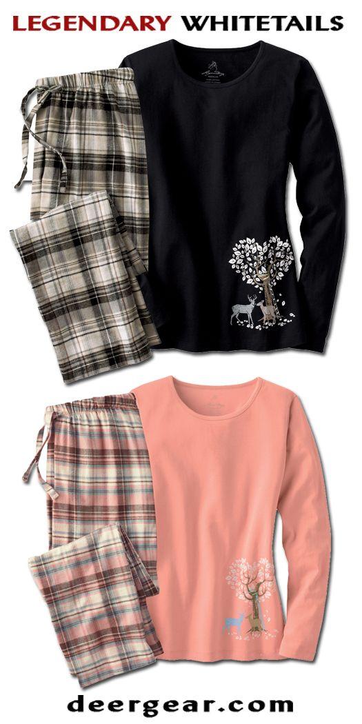 Women's Cotton Rendezvous Pants & Top Lounge Set  deergear.com #LegendaryWhitetails