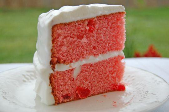 Maraschino Cherry Cake On Sunday Cakes And Glaze