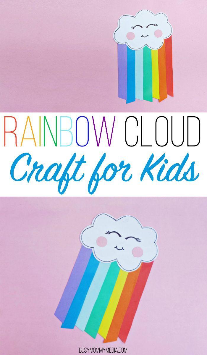 Rainbow Cloud Craft For Kids Cloud Craft Rainbow Crafts