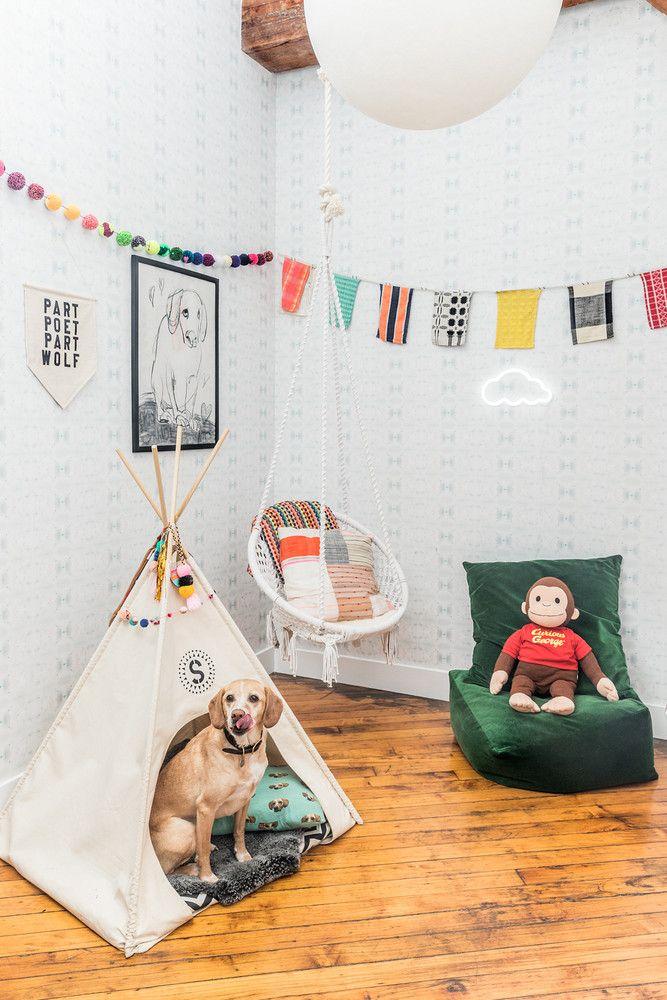 Author Laura Lane S Colorful Brooklyn Home Tour Dog Room Decor Dog Play Room Kid Room Decor