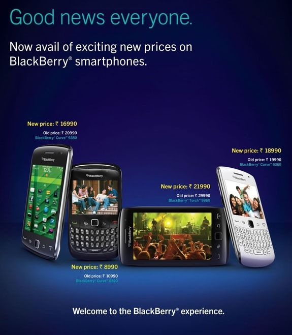 BlackBerry Prices Drop in India