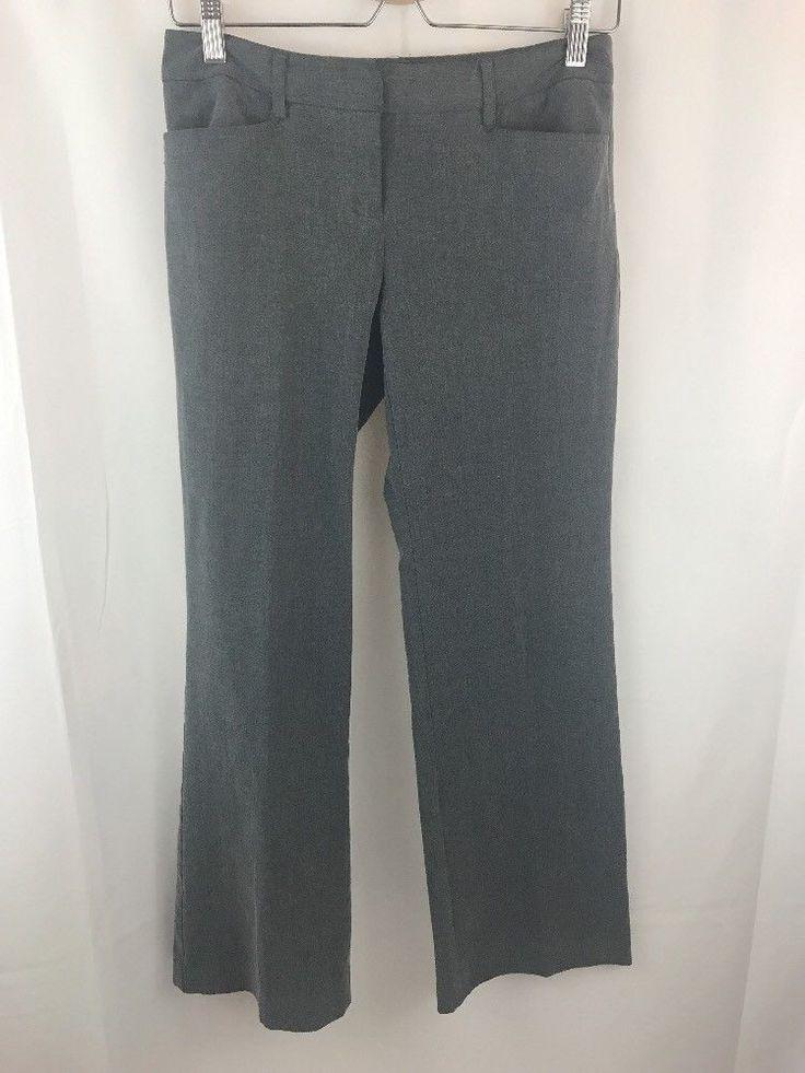 Michael Kors Woman Pants Sz 2P Gramercy Fit Gray Dressy Pant    eBay