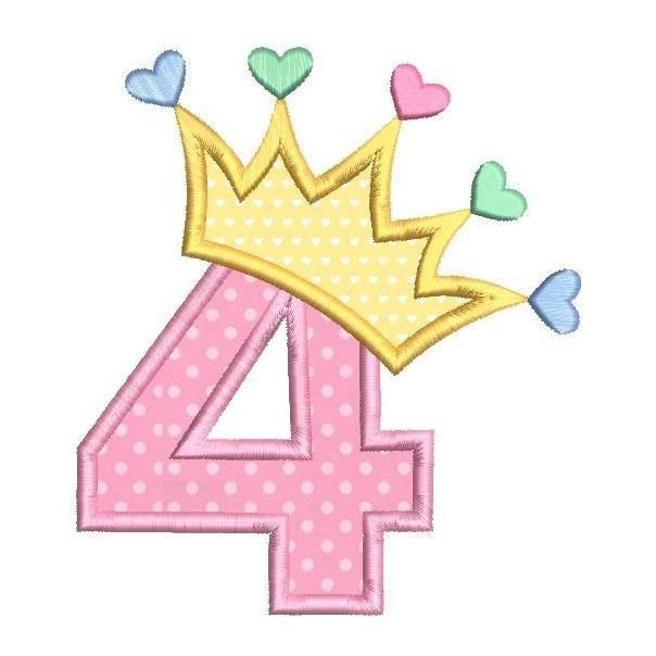 4th Birthday Princess Crown Sa510 87 Happy 4th Birthday 4th