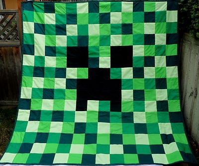 Mine Craft handmade quilt.... I need to make this for my son - Christmas gift for sure!   I want this sooo much