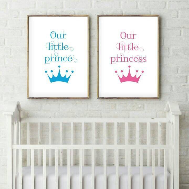 Our little prince - Our little princess - Nursery decor