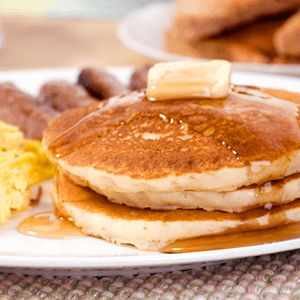buttermilk pancake recipe: Tried this this morning and pancakes came out very good...great way to use up buttermilk on weeks I make butter.