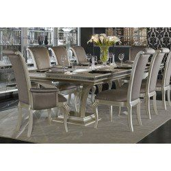 AICO Hollywood Swank Large Rectangular Dining Table By Michael Amini