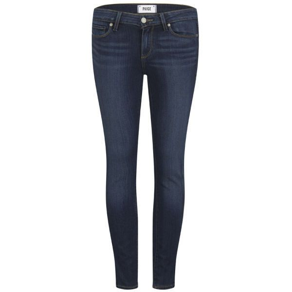 Paige Women's Verdugo Ankle Grazer Transcend Jeans - Blue ($115) ❤ liked on Polyvore featuring jeans, pants, bottoms, blue, super stretch skinny jeans, stretch jeans, stretchy skinny jeans, paige denim jeans and blue jeans