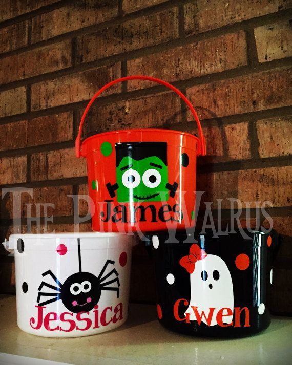 Personalized Toddler Halloween Bucket Personalized Halloween