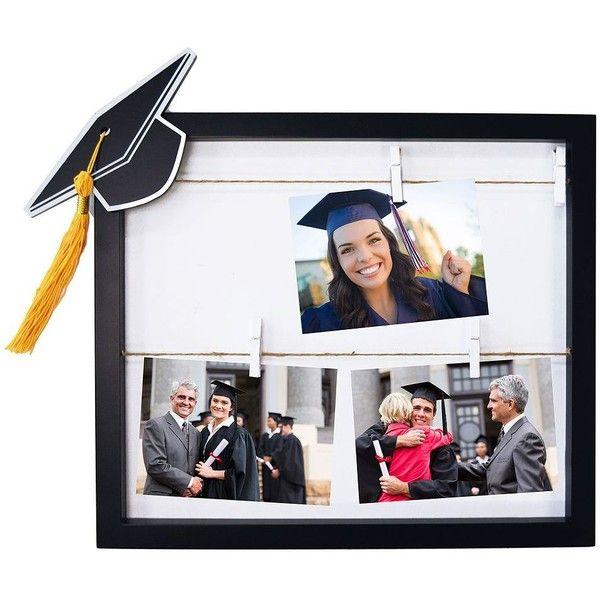 new view graduation cap clothespin 4 photo collage frame 20 liked on