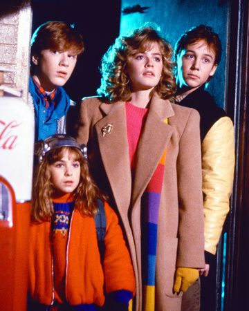 Elisabeth Shue, Maia Brewton, Keith Coogan, and Anthony Rapp in Adventures in Babysitting