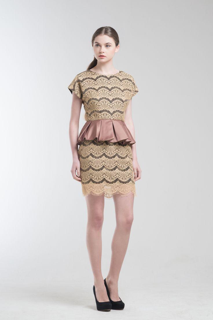 Loire Lace Peplum Dress from Jolie Clothing  #JolieClothing www.jolie-clothing.com  #Fashion #designer #jolie #Charity #foundation #World #vision #indonesia  #online #shop #stefanitan #fannytjandra #blogger