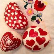 Image result for Rock painting for Valentines Day