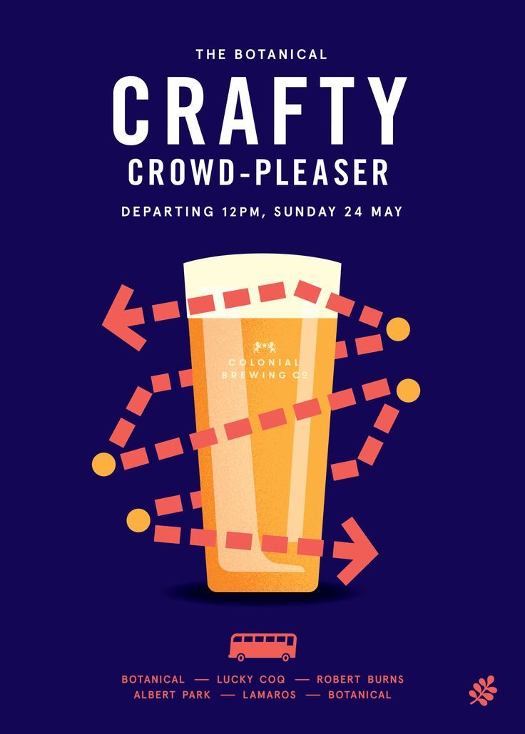 As part of The Good Beer Week Festival, The Botanical is organizing The Crafty Crowd Pleaser, the craft beer event where beer lovers will have a chance to taste the most exotic hand-crafted beers of Colonial Brewing Co. Make your laid-back Sundays even more exciting as we visit pubs - Lucky Coq, Robert Burns, Albert Park Hotel and Lamaros serving craft beers and delicious food. The journey by bus begins at 12PM and end at 5pm. At just $65, don't miss the craft beer and food.