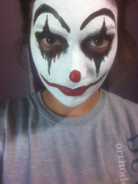 Creepy clown makeup. | Halloween&Costumes | Pinterest Simple Clown Makeup Men