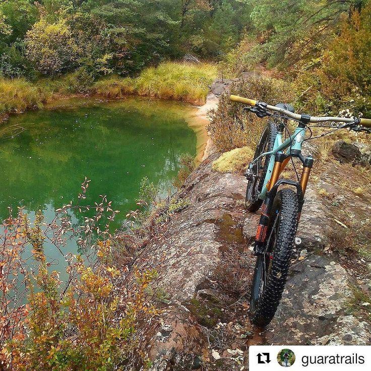 #Repost @guaratrails (@get_repost)  Pozas y más pozas en esta nueva senda  #nordestcycles #nordestbardino #steelisrealmtb #endurobike #endurolife