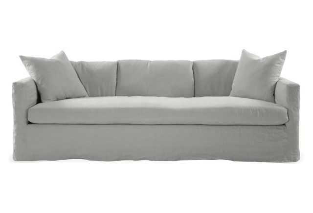 Best Francis 96 Slipcover Sofa Light Gray The O Jays Gray 400 x 300