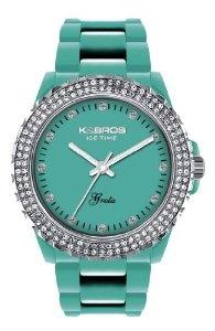 K Women's 9552-1 Icetime Fashion Three Hands Stones Watch