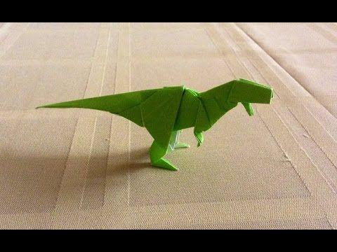 Dinosaurio Rex de origami, como hacer dinosaurio Rex? - YouTube