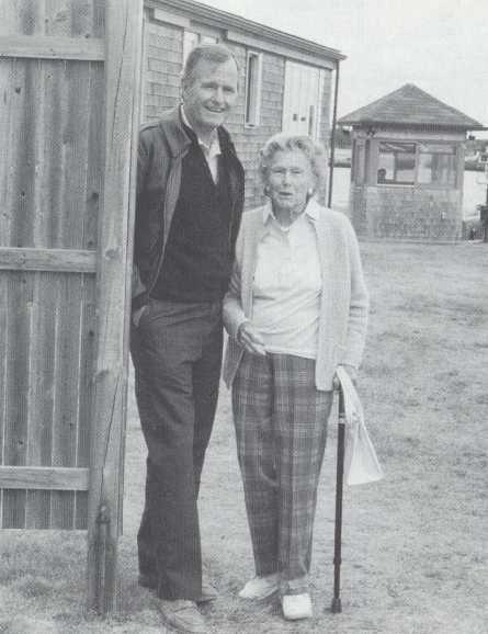 Dorothy Walker Bush (1901 - 1992) with her son President George H W Bush