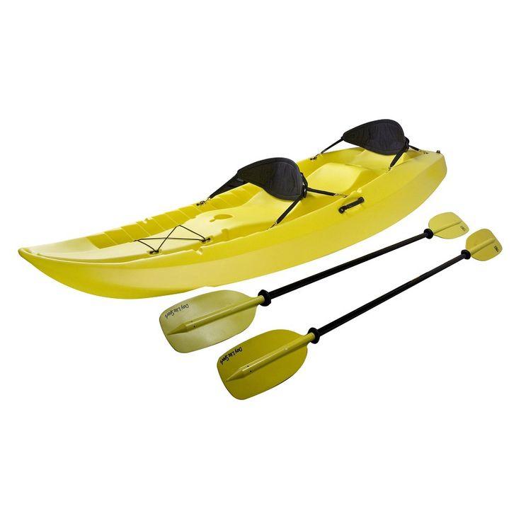 Lifetime Products Manta 10 Ft X 36 In Yellow 2 Person Plastic Recreational Kayak Tandem Kayaking Recreational Kayak Kayaking