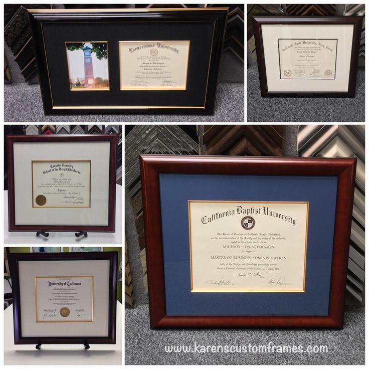 Custom Design And Frame Diploma By Karens Detail Frames Orange County CA