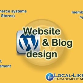 We build websites and blogs using Wordpress