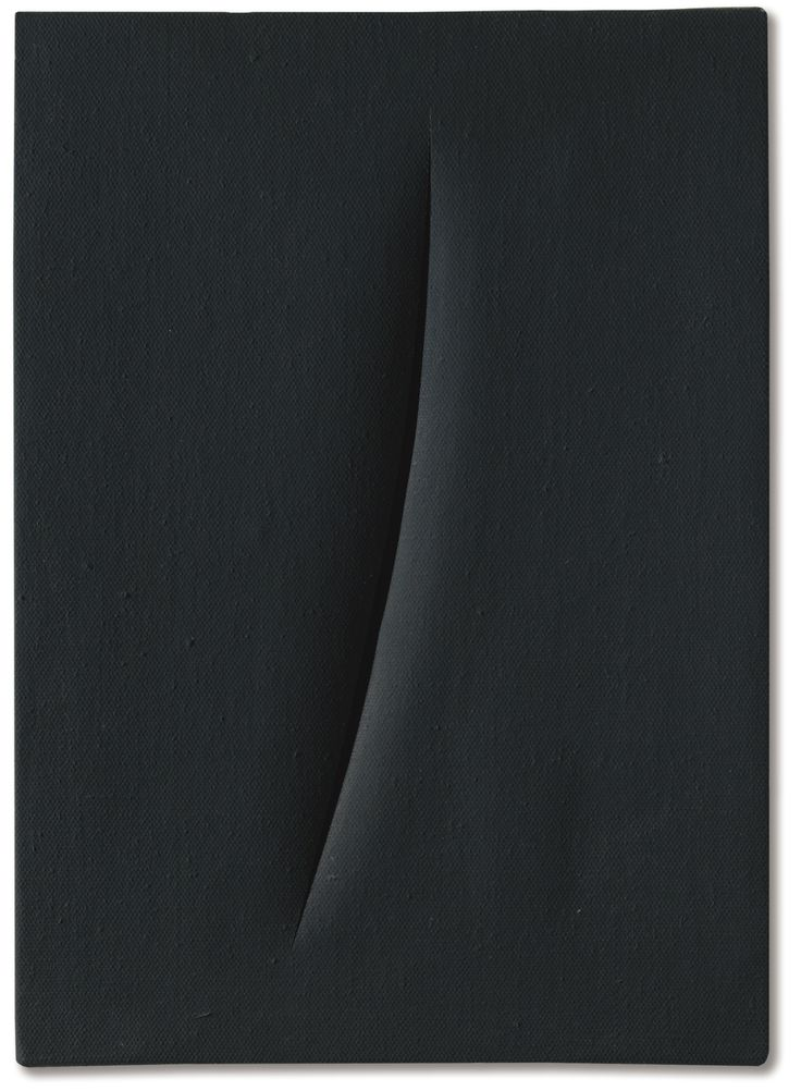 moodboardmix: Lucio Fontana, Concetto Spaziale, Attesa. Executed in 1961. (46 x 33.) Sotheby's.