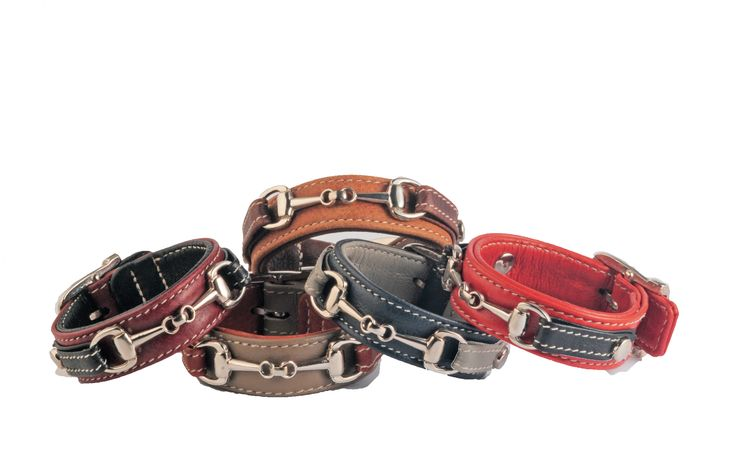 Leather bracelets with a bit by PARADE PERFECT WEAR