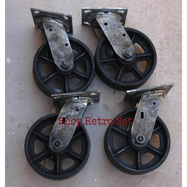 6 Cast Iron Caster Wheels Create New Things Pinterest Furniture Vintage And