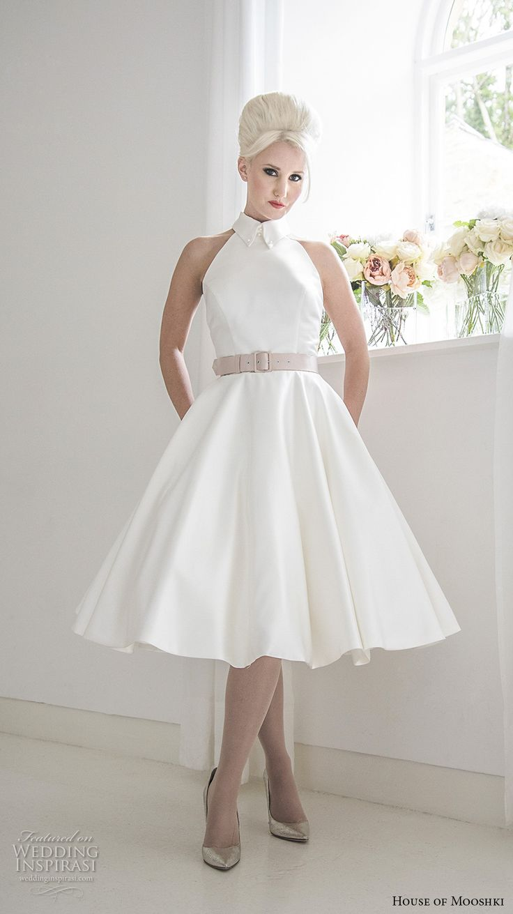 252 best short tea length wedding dresses images on for Simple romantic wedding dresses
