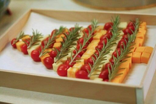 Cheese cubes and cherry tomatoes