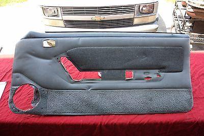 87 - 93 Mustang Smoke Gray Door Panels with Power Window Tweed Insert GT LX 5.0