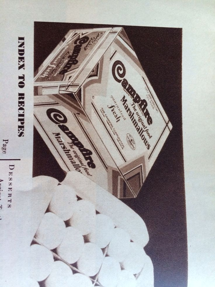 Campfire Marshmallows 1930. One pound box cost 35 cents ...