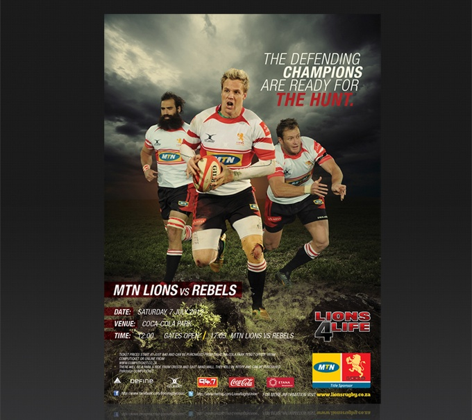 Client: Golden Lions Rugby Union | Currie Cup 2012 Campaign