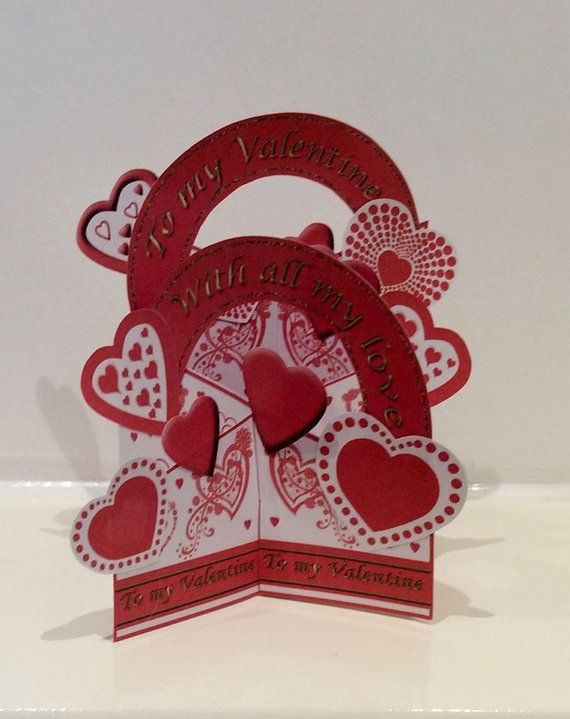 Astonishing Cascade Valentine Card Handmade Card By Personalised Birthday Cards Epsylily Jamesorg