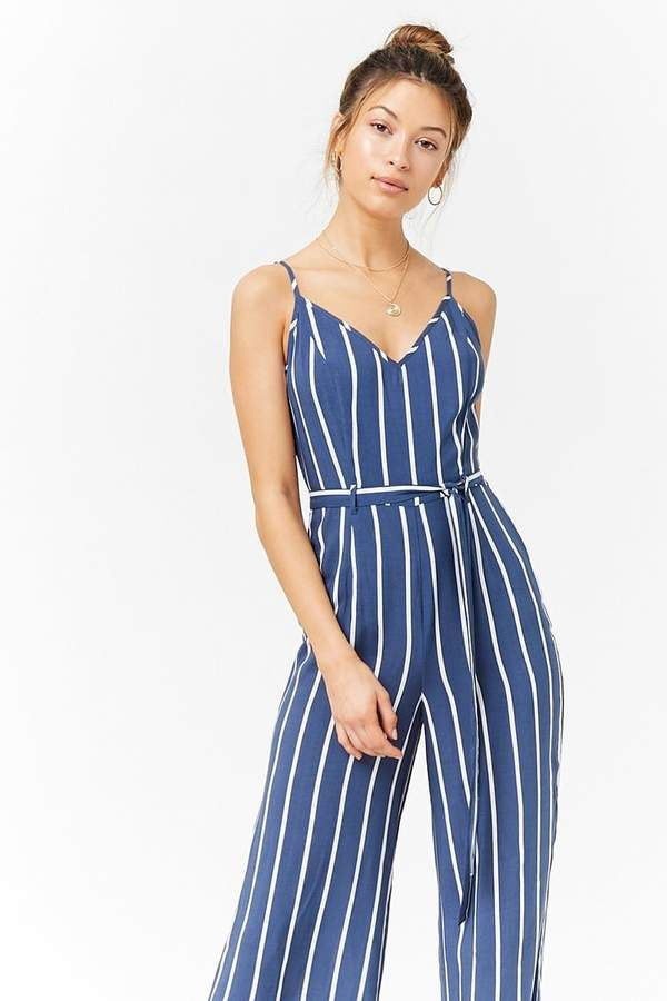 6bc2dc74dba Forever 21 Striped Cami Jumpsuit