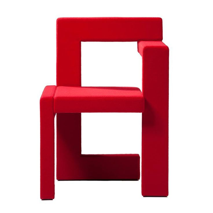 Gerrit Rietveld Steltman chair Spectrum Rietveld red originals modern geometric