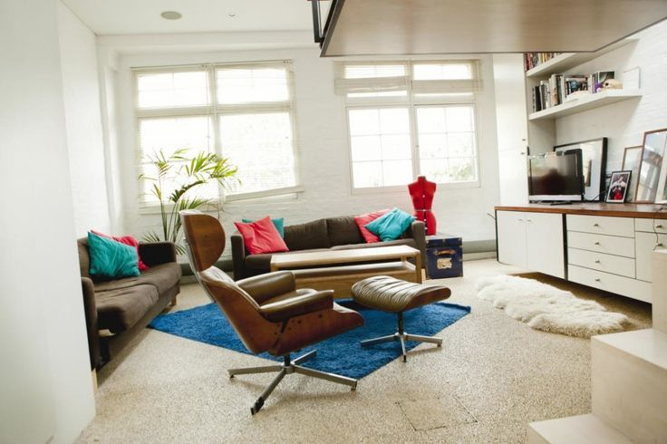 Living in a shoebox     London studio apartment with suspended bed and rooftop garden