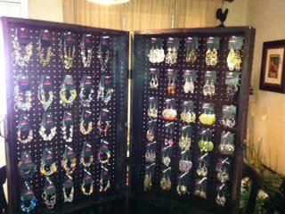 I love my earring display for my parties.  Paparazzi jewelry is amazing and I love that I get to sell it for $5.00!
