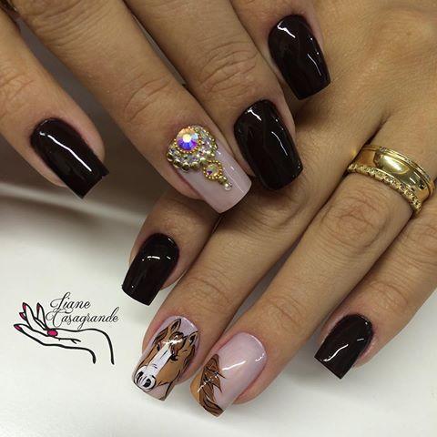 Clau Manutenção e troca de arte  Tentei por ela @claudiaselau  #expointer2016 #partiu  #lianecasagrande #unhasdecoradas #filhaunica #naoéadesivo #tudofeitoamao #arteterapia #decoraréarte #unhaslindas #nails #nailstagram #nails