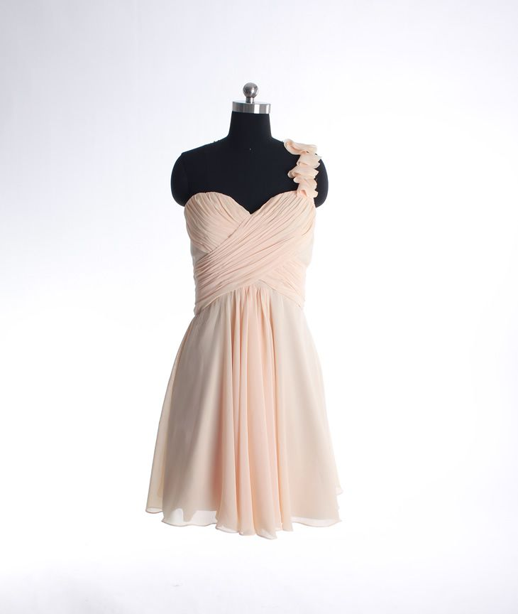 Custom knee-length A-line bridesmaid dress